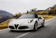 ALFA ROMEO 4C Cabriolet Front + links, Convertible, Weiss