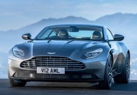 ASTON MARTIN DB11 Coupé Front + links, Coupé, Dunkelgrau