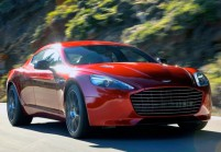 ASTON MARTIN RAPIDE Limousine Front + links, Hatchback, Weiss
