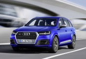 AUDI   Front + links, Stationwagon, Blau