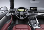 AUDI A5 Cabriolet Front + links, Convertible, Weiss