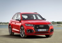 AUDI SQ5 SUV / Geländewagen Front + links, Stationwagon, Rot