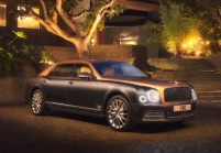 BENTLEY Mulsanne Limousine Front + links, Sedan, Braun