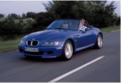 BMW   Front + links, Convertible, Blau