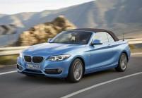 BMW 218 Cabriolet Front + links, Blau