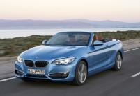BMW 220 Cabriolet Front + links, Blau