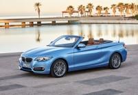 BMW 230 Cabriolet Front + links, Blau