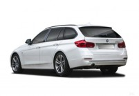 BMW 316 Combi Avant + gauche, Voiture Station, Blanc