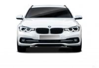 BMW 316 Kombi Front + links, Stationwagon, Weiss