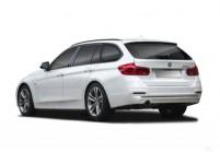 BMW 318 Combi Avant + gauche, Voiture Station, Blanc