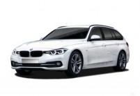 BMW 320 Kombi Front + links, Stationwagon, Weiss