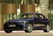 BMW-ALPINA   Front + links, Sedan, Blau