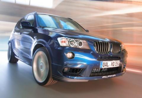 BMW-ALPINA X3 Serie SUV / Geländewagen Front + rechts, Stationwagon, Blau