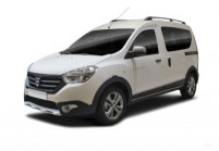 DACIA DOKKER Kompaktvan / Minivan Front + links, Stationwagon, Weiss