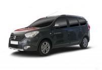 DACIA LODGY Kompaktvan / Minivan Front + links, Stationwagon, Schwarz