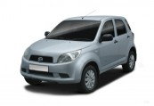 DAIHATSU   Front + links, Stationwagon, Silbergrau