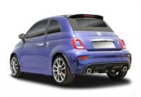 FIAT 500 Abarth Microklasse Front + links, Hatchback, Blau