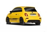 FIAT 500 Abarth Microklasse Front + links, Hatchback, Gelb