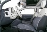 FIAT 500 Microklasse Front + links, Hatchback, Weiss