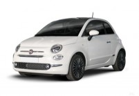 FIAT 500 Microklasse Front + links, Hatchback, Weiss