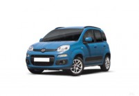 FIAT PANDA Microklasse Front + links, Hatchback, Blau