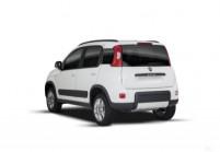 FIAT PANDA Microklasse Front + links, Hatchback, Weiss