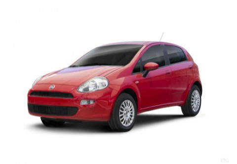 FIAT PUNTO Kleinwagen Front + links, Hatchback, Rot