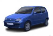 FIAT SEICENTO  Front + links, Hatchback, Schwarz