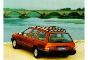 FORD   Heck + links, Stationwagon, Hellrot