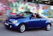 FORD   Front + links, Convertible, Blau
