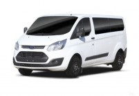 FORD TRANSIT CUSTOM Bus Front + links, Combi, Weiss