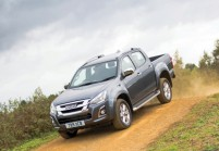 ISUZU D-MAX Pick-Up Doppelkabine Front + links, Pick up double cabin, Dunkelgrau