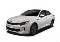 KIA OPTIMA Limousine Front + links, Sedan, Weiss