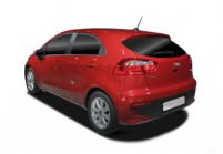 KIA RIO Kleinwagen Front + links, Hatchback, Rot