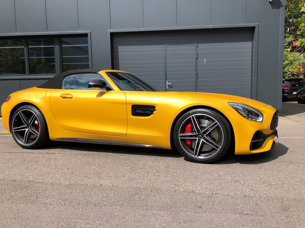 mercedes benz amg gt c roadster occasion essence 20 39 000 km chf 164 39 000. Black Bedroom Furniture Sets. Home Design Ideas