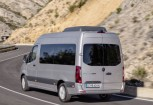 MERCEDES-BENZ Sprinter Bus Front + links, Silbergrau