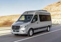 MERCEDES-BENZ Sprinter Minibus Anteriore + sinistra, Grigio argento