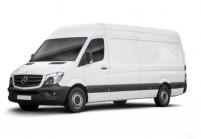 MERCEDES-BENZ Sprinter Sattelschlepper Doppelkabine Front + links, Panel Van, Weiss