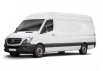 MERCEDES-BENZ Sprinter Tract.semi-remorque double cab Avant + gauche, Panel Van, Blanc