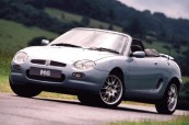 MG   Front + links, Convertible, Silbergrau