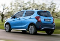 OPEL KARL Microklasse Front + links, Hatchback, Blau