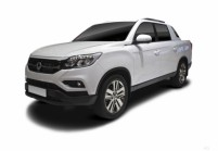 SSANG YONG MUSSO Pick-up cabine double Avant + gauche