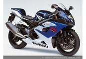 SUZUKI GSX-R 1000  Front + rechts, , Blau