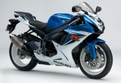 SUZUKI GSX-R 600  Front + rechts, , Blau