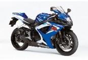 SUZUKI GSX-R 750  Front + rechts, , Blau