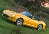 TVR   Front + links, Convertible, Gelb