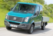VW CRAFTER  Front + links, Pick up, Grün