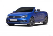 VW EOS  Front + links, Convertible, Blau