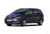VW SHARAN Kompaktvan / Minivan Front + links, Multi Purpose Vehicle, Braun